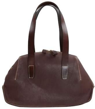 EAZO - Dumpling Zip Open Leather Tote In Dark Brown