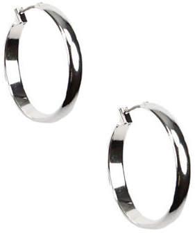 Anne Klein Silvertone Hoop Earrings