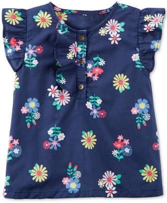 Carter's Floral-Print Cotton Top, Toddler Girls