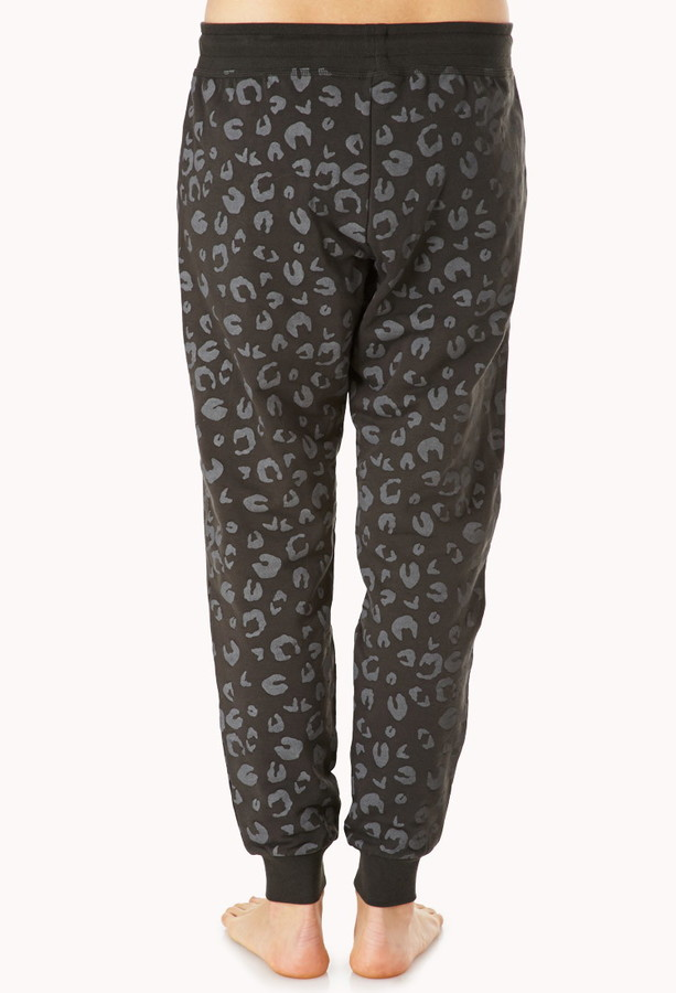Forever 21 Wild Leopard PJ Sweatpants