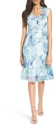 Petite Women's Komarov Water Lily Chiffon A-Line Dress $298 thestylecure.com