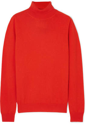 Jil Sander Cashmere Turtleneck Sweater - Red