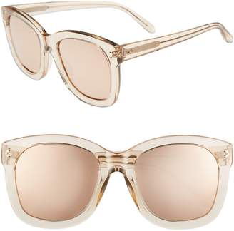 Linda Farrow 56mm Mirrored Sunglasses