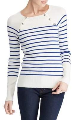 Lauren Ralph Lauren Petite Striped Crewneck Sweater