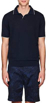 Barneys New York Men's Contrast-Tipped Cotton Polo Shirt