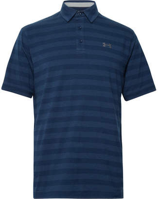 Under Armour Scramble Striped Charged Cotton-Blend Polo Shirt