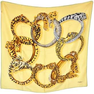 Cartier Vintage Yellow Silk Silk handkerchief