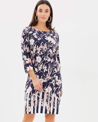 Wallis Stripe Border Floral Tunic