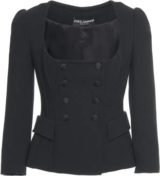 Dolce & Gabbana Double-Breasted Wool Blazer