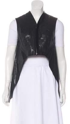 Rick Owens Leather Asymmetrical Vest