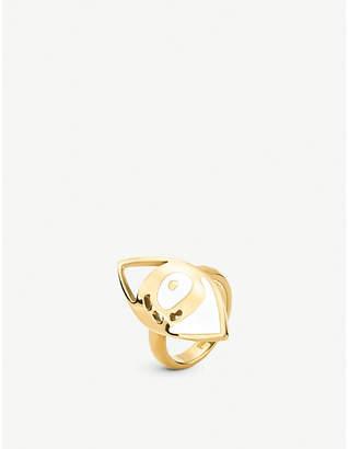 Folli Follie Talisman yellow gold plated eye ring