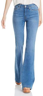 Paige Genevieve Flare Jeans in North Star Distressed