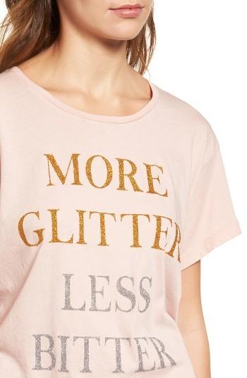 Women's Wildfox More Glitter Manchester Tee 3