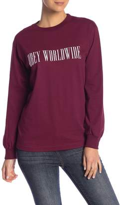 Obey Proof Type Long Sleeve Tee