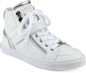 G by GUESS Ojay Lace-Up High-Top Sneakers $69 thestylecure.com
