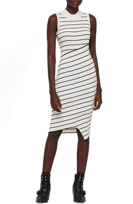 AllSaints Amara Stripe Bandage Sweater Dress