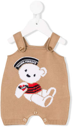 Versace sailor teddy knitted dungarees