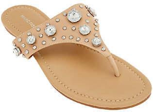 Marc Fisher Thong Sandals w/ Jewel Accents -Gissel