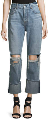 7 For All Mankind Rickie Distressed Boyfriend Ankle Jeans