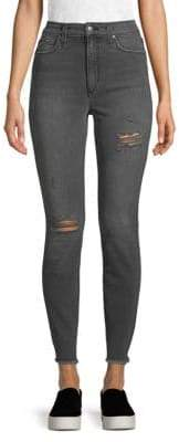 Riped Ankle Jeans