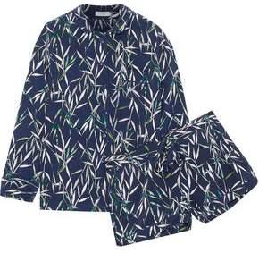 Equipment Printed Washed-Silk Pajama Set