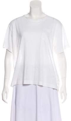 Sacai Short Sleeve Lace Top