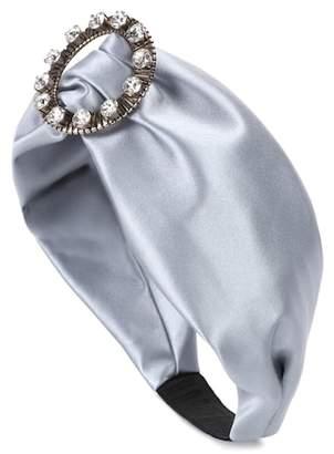 Miu Miu Embellished satin headband