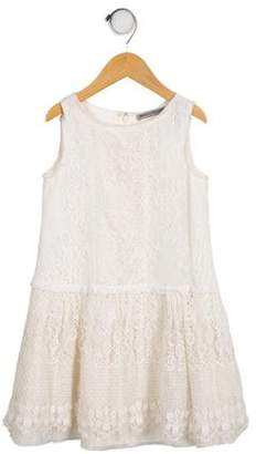 Ermanno Scervino Girls' Sleeveless Lace Dress