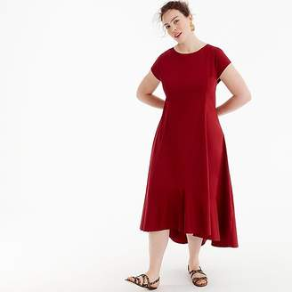 J.Crew Universal Standard for poplin high-low maxi dress