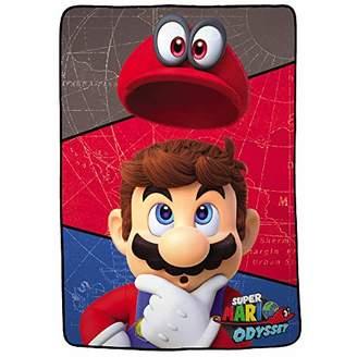 Nintendo Super Mario Odyssey Soft Plush Microfiber Kids Bedding Blanket