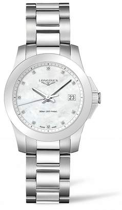Longines Conquest Diamond Bracelet Watch, 34mm