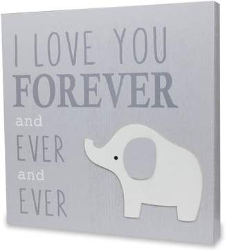 """Wendy Bellissimo I Love You Forever"""" Elephant Wall Art"""