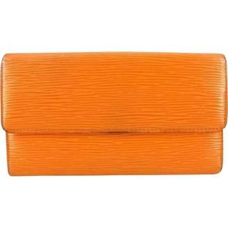 Louis Vuitton Vintage Orange Leather Wallets