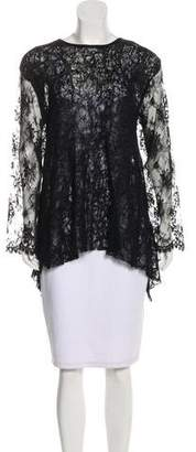 Jeremy Laing Lace-Accented Knit Top
