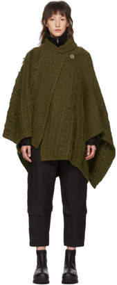 Stella McCartney Khaki Cable Knit Alpaca Poncho