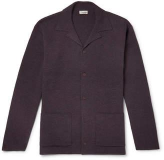 Camoshita Camp-Collar Boiled Wool Cardigan