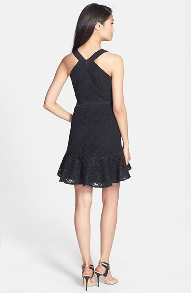 Rebecca Taylor Lace Fit & Flare Dress