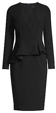 Black Halo Women's Jacquelyn Asymmetric Peplum Sheath Dress