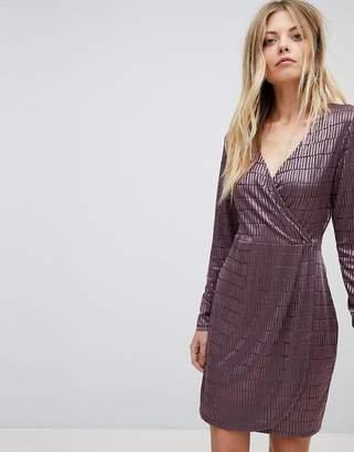 French Connection Jacquard Detail Wrap Dress
