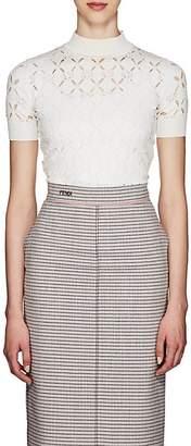 Fendi Women's Cutout Knit Turtleneck Sweater - White