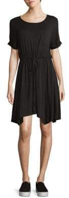 BCBGeneration Short-Sleeve Asymmetrical Drawstring Dress