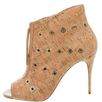 Jerome C. Rousseau Cline Eyelet Booties w/ Tags Natural Cline Eyelet Booties w/ Tags