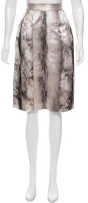 Dolce & Gabbana Fur Print Silk Skirt w/ Tags
