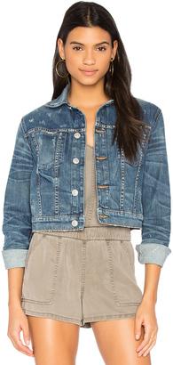 Hudson Jeans x REVOLVE Garrison Cropped Denim Jacket $255 thestylecure.com