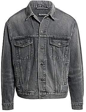 Balenciaga Men's Logo Denim Jacket
