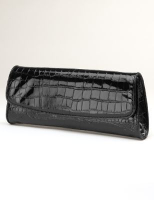Embossed Croco Clutch