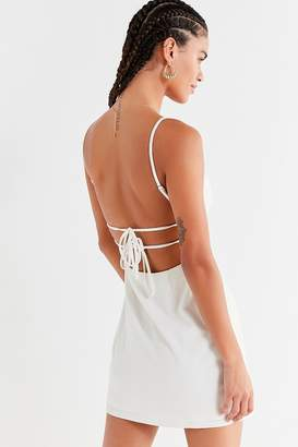 Urban Outfitters Bodycon Tie-Back Mini Dress