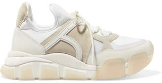 Salvatore Ferragamo Cimbra Leather, Suede And Neoprene Sneakers
