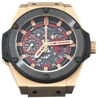 Hublot 716.OM.1129.RX.MAN11 Big Bang King Power Red Devil Manchester United Chrono Limited Rose Gold Skeleton Dial 48mm Watch