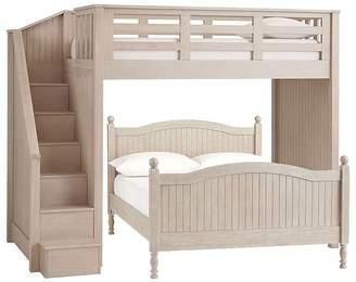 ... Pottery Barn Kids Twin Stair Loft U0026 Lower Bed Set